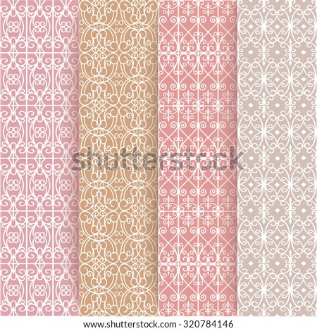 set of seamless pattern - stock vector