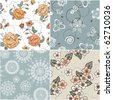 Set of seamless patterns - stock vector