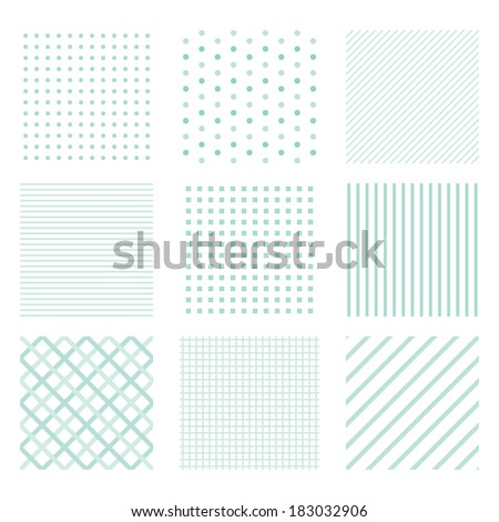 Set of seamless simple patterns   - stock vector