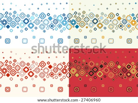 Set of seamless stylish backgrounds.Vector illustration.