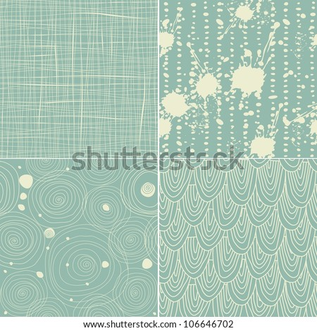 set of 4 seamless texture patterns - stock vector