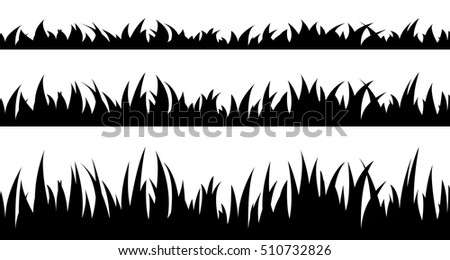 Silhouette Trees Grass...