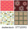 set of seamless vector patterns - stock vector