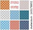 Set of seamless wave patterns  - stock