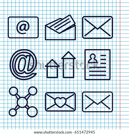 Set 9 Send Outline Icons Such Stock Vector 651472945 - Shutterstock