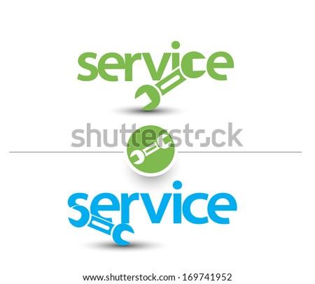 Set Of Service Web Icon Design Element. - stock vector