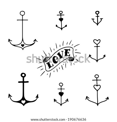 Small Anchor Drawing Drawn Anchors in Tattoo