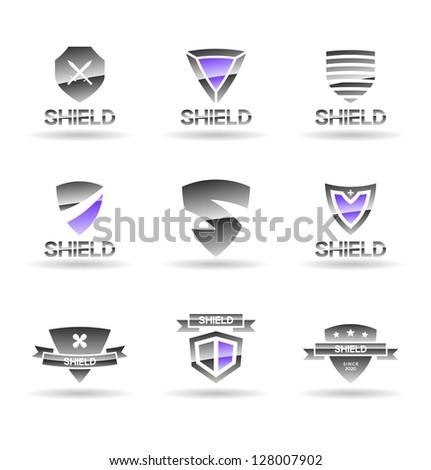 Set of shields. Vol 4. - stock vector