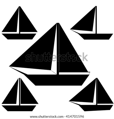 set of ships with sail