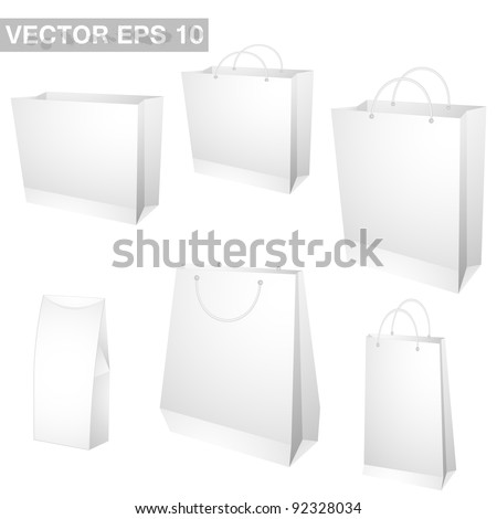 Set of shopping bags. vector