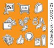 Set of Shopping Icons - stock photo