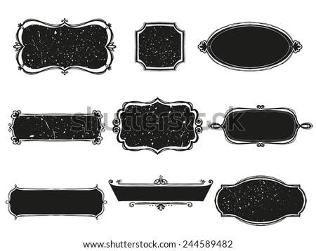 set of signboards. Vector illustration - stock vector