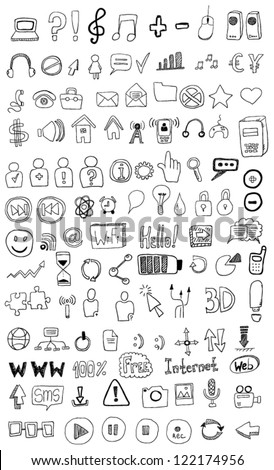 Set of signs - stock vector