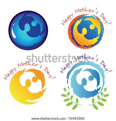 Set Signs Symbols Mothers Day Stock Vector 76481806 Shutterstock