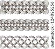 Set of silver celtic braids - stock vector