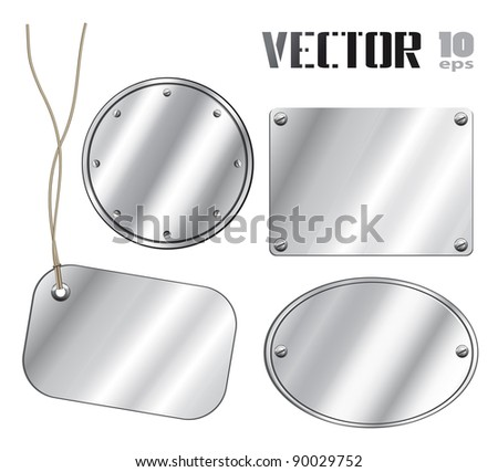 Set of silver vector backgrounds - stock vector