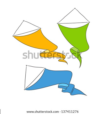 Set of simple banners on the white background. Vector Illustration. - stock vector