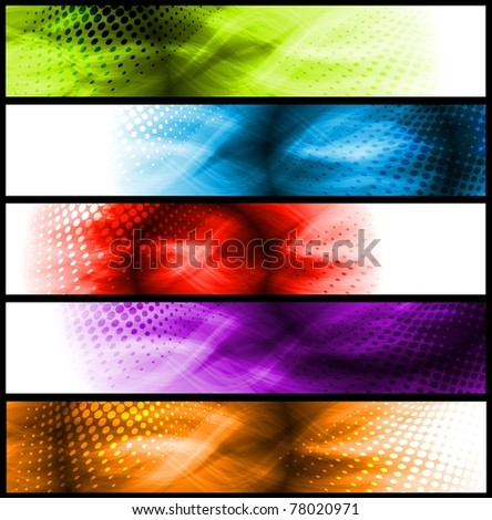 Set of simple colourful headers. Eps 10 vector - stock vector