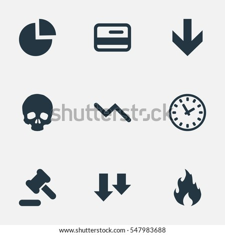 Set 9 Simple Crisis Icons Can Stock Vector 547983688 - Shutterstock