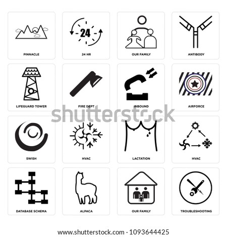 Set 16 Simple Editable Icons Such Stock Vector (Royalty Free ...