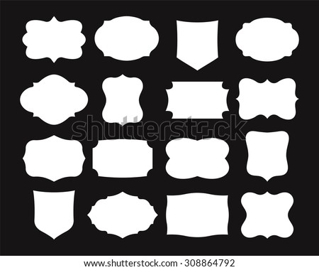 Label Shapes Stock Images, Royalty-Free Images & Vectors ...