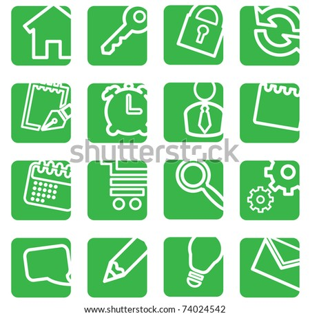 Set of simple icons for decoration. - stock vector