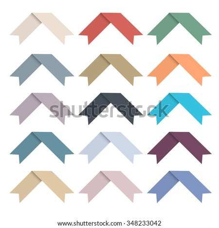 Set of simple ribbons. Vector EPS10 - stock vector