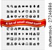 Set of small web icons. - stock vector