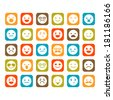 Set of smiley icons - stock vector