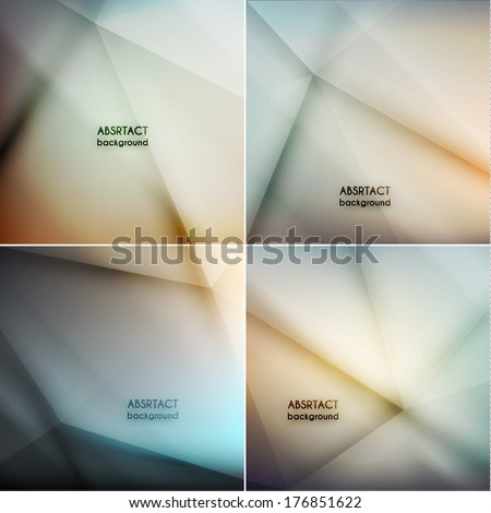 Set of smooth abstract geometric backgrounds  - eps10 vector - stock vector