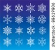 set of snowflakes/snow/stars - stock vector