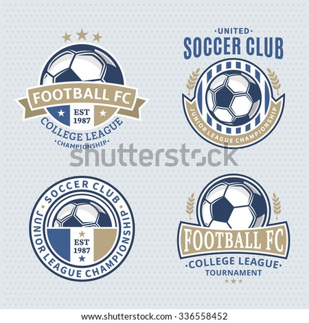 Free Logo Maker  soccer football logo design template