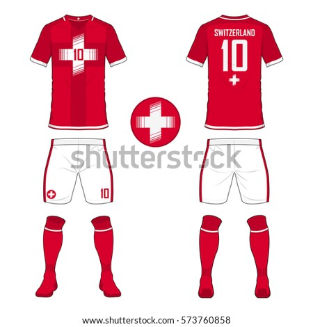 set soccer jersey football kit template stock vector 573760858