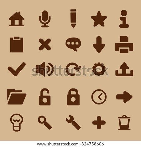Set of social media icons for design. Vector icons. - stock vector