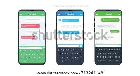 Set Social Network Chat Window Concepts Stock Vector 713241148 ...