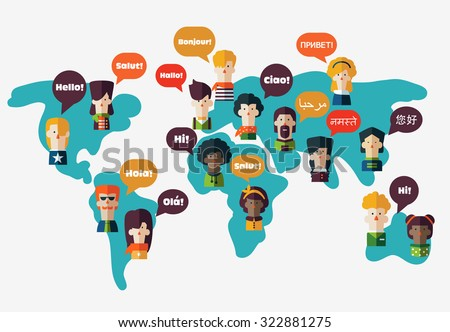 set social people on world map stock vector royalty free 322881275