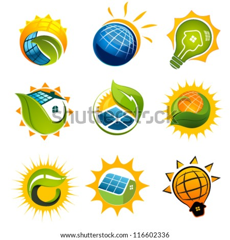 SET OF SOLAR Technology vector elements - stock vector