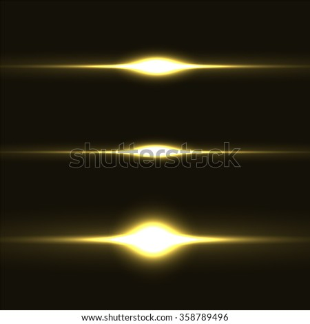 Set of sparkle lights with transparency effects. Collection of beautiful bright lens flares. Lighting effects of flash. Easy to use. - stock vector