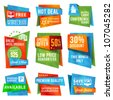 Set of special offer labels and banners - stock photo
