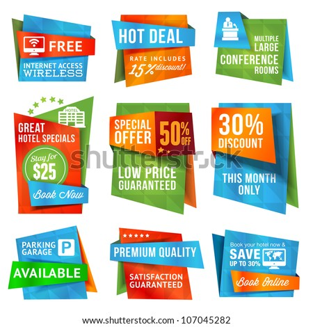 Set of special offer labels and banners - stock vector