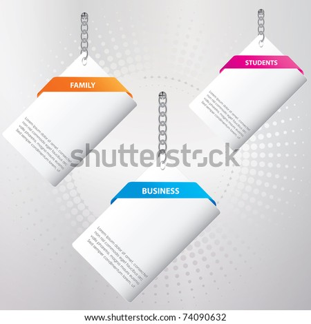 set of special paper tags - stock vector