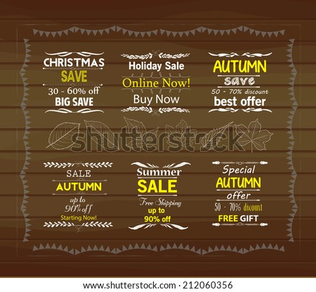 Set of special sale offer labels - stock vector