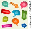 Set of speech and thought bubbles, element for design, vector illustration - stock photo