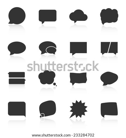 Set of speech bubble icons on white background. Vector illustration - stock vector