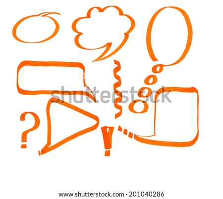 Set of speech bubbles hand drawn