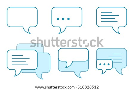 Set of speech bubbles icons