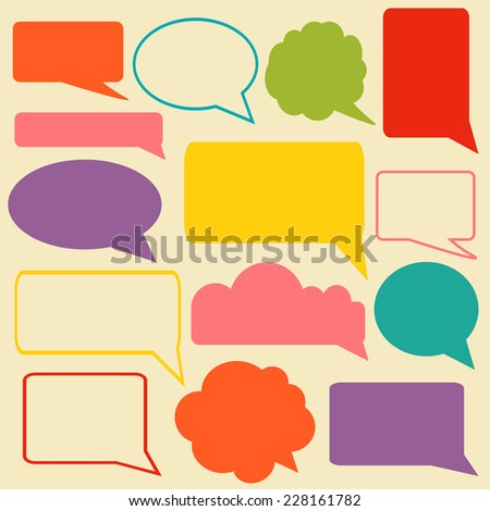 Set of speech bubbles. Infographic elements for your design.  - stock vector