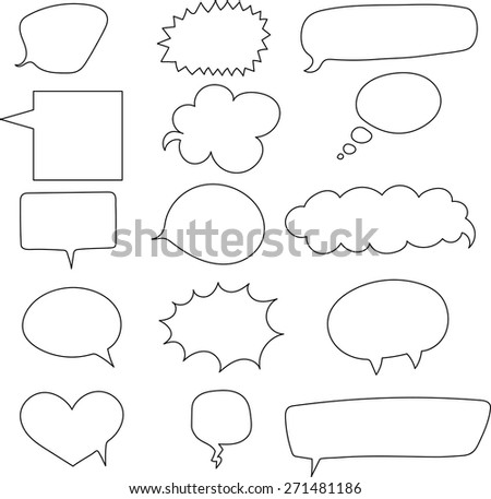 set of speech bubbles on white background. Vector image.