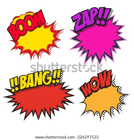 Set of speech bubbles, vector illustration - stock vector