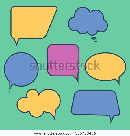 Set of speech bubbles. Vector illustration - stock vector